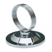Ring Clip, Heavy Base Stainless Steel, Menu/Card Holder