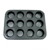 Muffin/Cup Cake Pan, 12 Cup Non-Stick Carbon Steel, 14x10.5x1