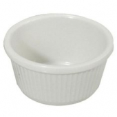 Winco - Fluted Ramekin, 4 oz White Melamine