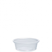 Dart - Container, .5 oz Clear Plastic Conex Complement Portion Container, 1.7x.6x1.4