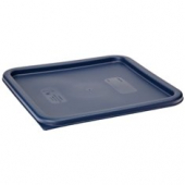 Cambro - CamSquares Food Storage Container Lid, Midnight Blue Square Plastic, Fits 12/18/22 qt Conta