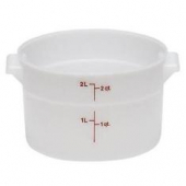 Cambro - Camwear Rounds Food Storage Container, 2 Quart Round Clear PC Plastic