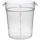 Cambro - Camwear Rounds Food Storage Container, 4 Quart Round Clear PC Plastic