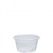 Dart - Container, .75 oz Clear Plastic Conex Complement Portion Container