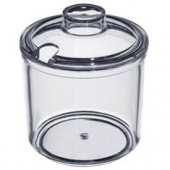 Winco - Condiment Jar with Cover, 7 oz Clear Plastic
