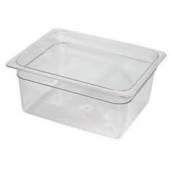 "Winco - Food Pan, 1/2 Size Clear PC Plastic, 5.5"" Deep"