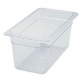 "Winco - Food Pan, 1/3 Size Clear PC Plastic, 5.5"" Deep"