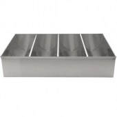 Winco - Cutlery Bin, 4-Compartment Stainless Steel