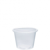 Dart - Container, 1 oz Clear Plastic Conex Complement Portion Container, 2x1x1