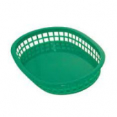 Tablecraft - Basket, Oval, Green Plastic, 9.3x6x1.87