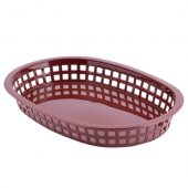 Tablecraft - Basket, Brown Oval Plastic, 10.5x7x1.5