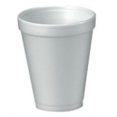 "Dart - Foam Cup, White, 10 oz, 3.9"" Height"