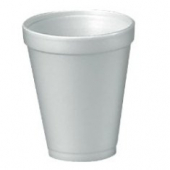 "Dart - Foam Cup, White, 10 oz, 3.6"" Height"