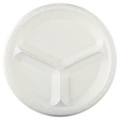 "Genpak - Plate, 10"" Laminated 3 Compartment Plate, White"