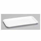Meat Tray, 10S Supermarket White Foam, 10.75x5.75x.5