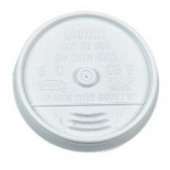Dart - Lid, Sip-Thru (Coffee Style) for 10 oz Foam Cups, White Plastic