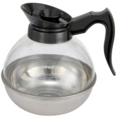 Winco - Coffee Decanter with Stainless Steel Bottom, 64 oz Regular
