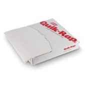 Quik-Rap Highly Grease Resistant White Sandwich Paper, 15x16