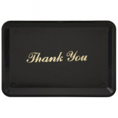 "Winco - Tip Tray, 4.5x6.5 Black Plastic with Gold Imprinted ""Thank You"""