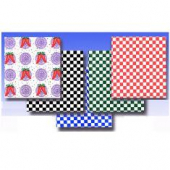 Wax Paper, 12x12 Black Checkered