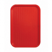 Winco - Fast Food Tray, 10x14 Red Plastic