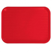 Winco - Fast Food Tray, 12x16 Red Plastic
