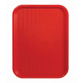 Winco - Fast Food Tray, 14x18 Red Plastic