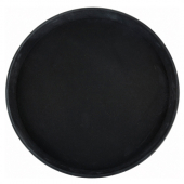 "Winco - Serving Tray, 11"" Round Black Easy-Hold Rubber-Lined"