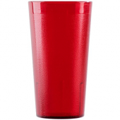 Cambro - Colorware Tumbler, 16.4 oz Ruby Red Pebbled Plastic