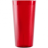 Cambro - Colorware Tumbler, 22 oz Ruby Red Pebbled Plastic