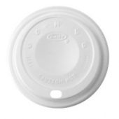 Dart - Lid, Cappuccino (Coffee Style) Plastic for 12 oz Foam Cups, White