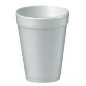 "Dart - Foam Cup, White, 12 oz, 4.2"" Height"