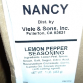 Nancy Brand - Lemon Pepper, 12/1 Lb