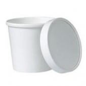 Solo - Food Container/Lid Combo, 12 oz, White Paper