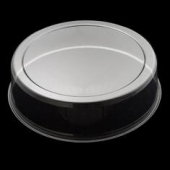 "Cake Base Lid, 12"" Round Clear Plastic Dome, 3"" Height"