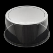 "Cake Base Lid, 12"" Round Clear Plastic Dome, 5.5"" Height"