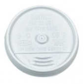 Dart - Lid, Sip-Thru (Coffee Style) for 12 oz Foam Cups, White Plastic