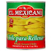 El Mexicano - Whole Green Chiles, 12/2 Lb