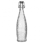 Libbey - Glacier Bottle with Clear Lid Clamp, 33.875 oz Glass