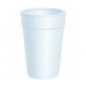 "Dart - Foam Cup, White, 14 oz, 4.9"" Height"