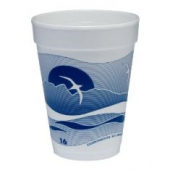 Dart - Foam Cup, Horizon Stock Print, 14 oz