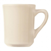 World Tableware - Kingsmen Tiara Coffee Mug, 8.5 oz Cream White