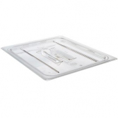 Winco - Food Pan Cover, 1/3 size, Clear Plastic with Handle