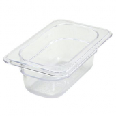 "Winco - Food Pan, 1/9 Size Clear PC Plastic, 2.5"" Deep"