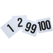 Winco - Table Numbers 1-100, 4x3.75 Plastic