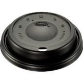 Dart - Lid, Cappuccino (Coffee Style) Plastic for 16 oz Foam Cups, Black
