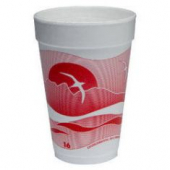 Dart - Foam Cup, Horizon Stock Print, 16 oz