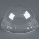 Dart - Lid, Dome Lid without Hole, Clear PET Plastic, Fits 12-24 oz Cups