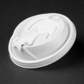 Dart - Travel Lid with Reclosable Tab, White