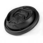 Dart - Travel Lid with Reclosable Tab, Black